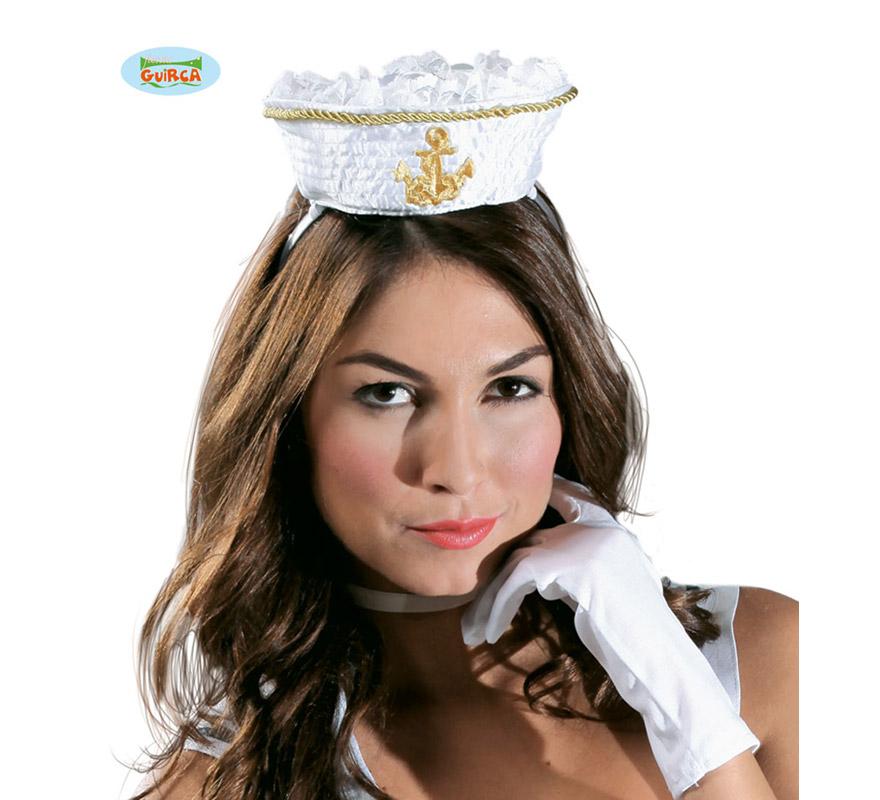Gorro o sombrero Marinero mini con diadema. Perfecto para Despedidas de Soltera.