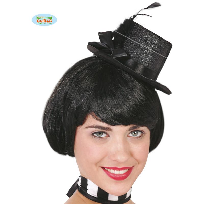 Sombrero de Copa o Chistera negra mini con diadema por sólo 3.50 ... 962ba9e1cd2