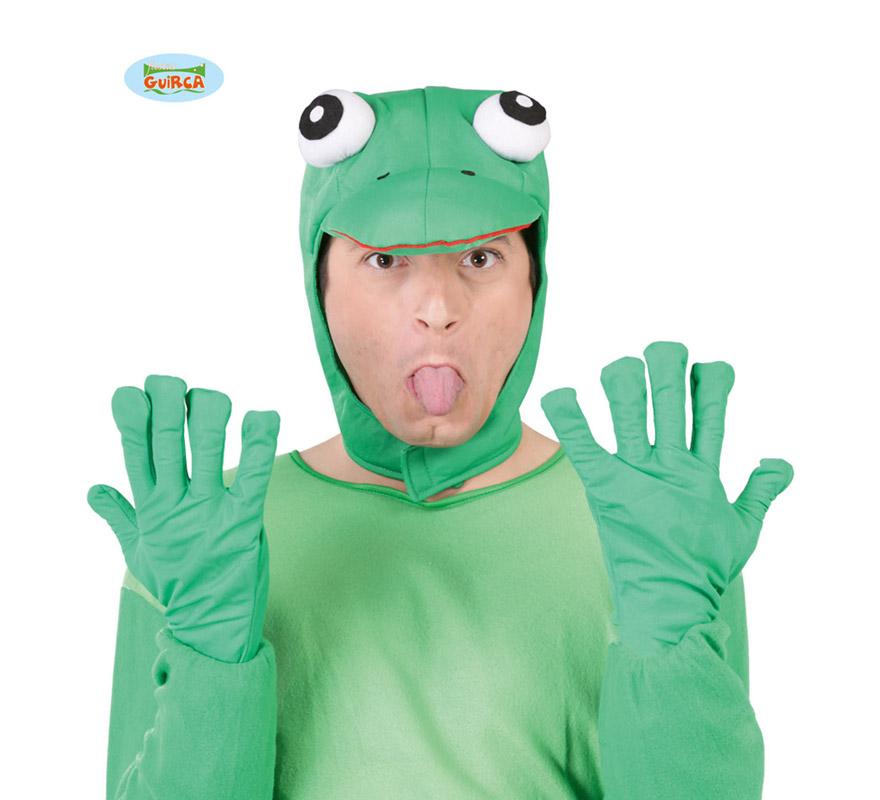 Conjunto de Rana verde. Incluye gorro y guantes. Perfecto para Despedidas de Solteros.