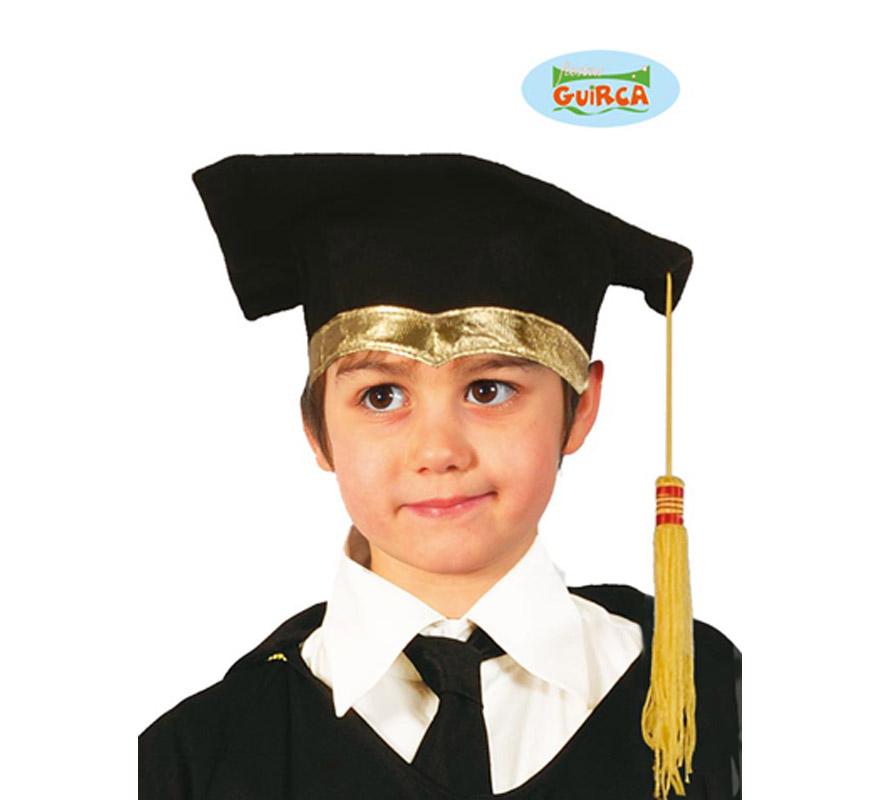 Sombrero de Estudiante o Graduado de tela para niños. Birrete de Licenciado.