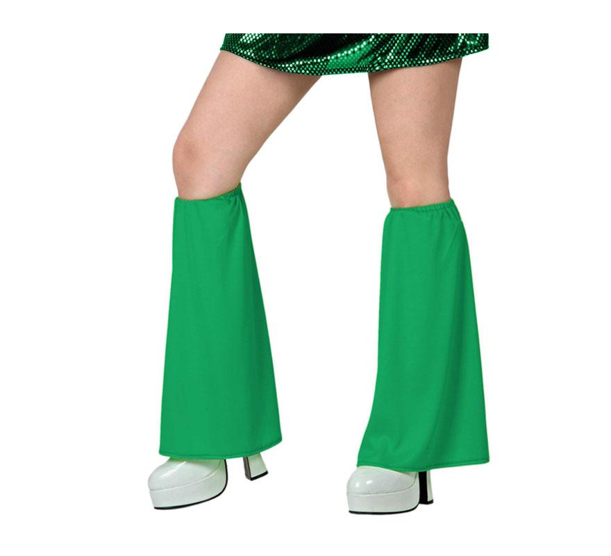 Calentadores de campana para el disfraz de la Disco verde.