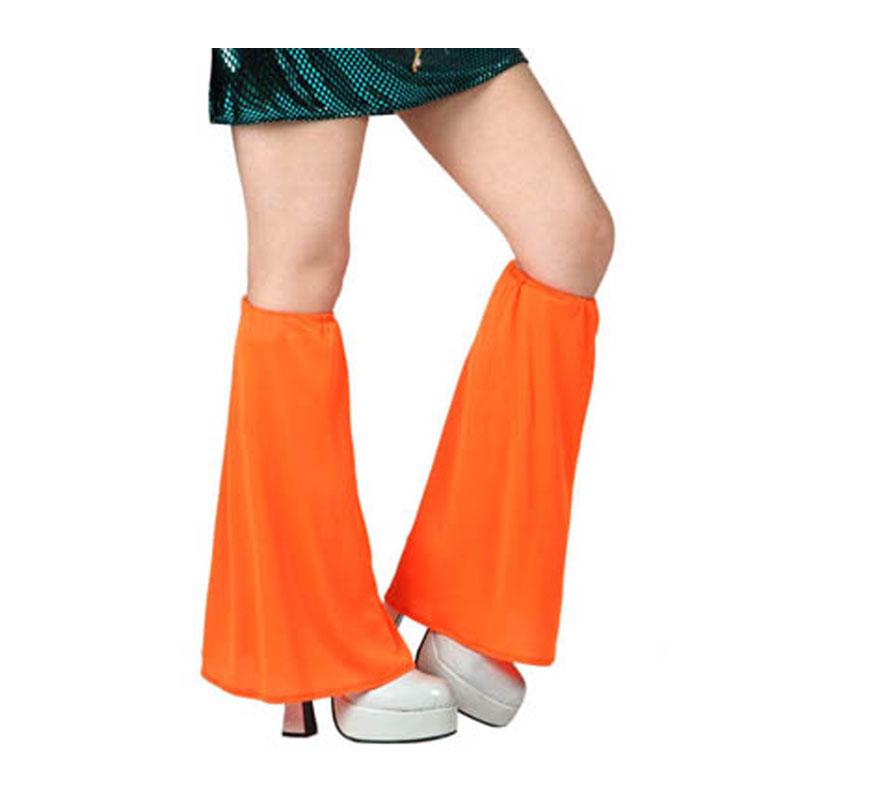 Calentadores de campana para el disfraz de la Disco naranja.
