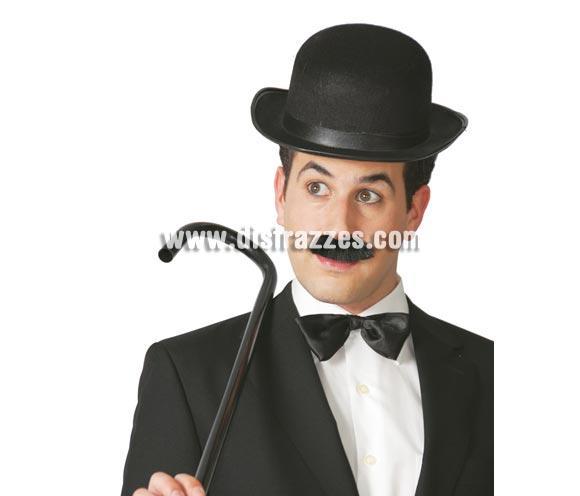 Bombín de fieltro negro. Perfecto para el disfraz de Charlie Chaplin o Charlot.