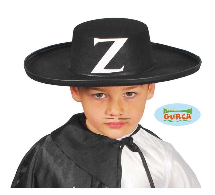 Sombrero Zorro fieltro infantil.
