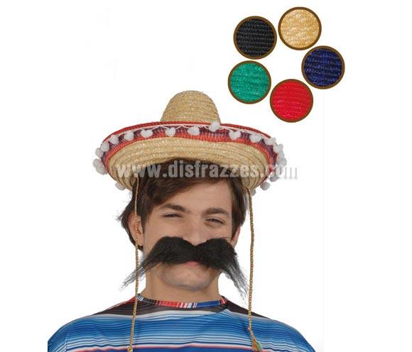 Sombrero Mejicano paja 35 cm. infantil (Disponible en 5 colores). Precio por unidad, se venden por separado.