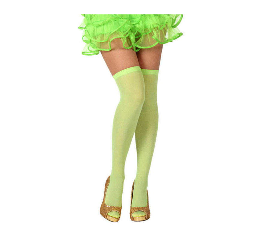 Medias Liga verde neon. Talla universal. Perfectas para el disfraz de Bruja Sexy y de Hada.