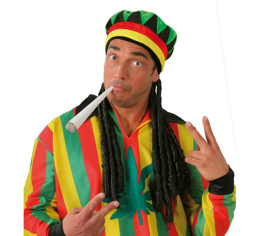 Gorra de Jamaicano con rastas.