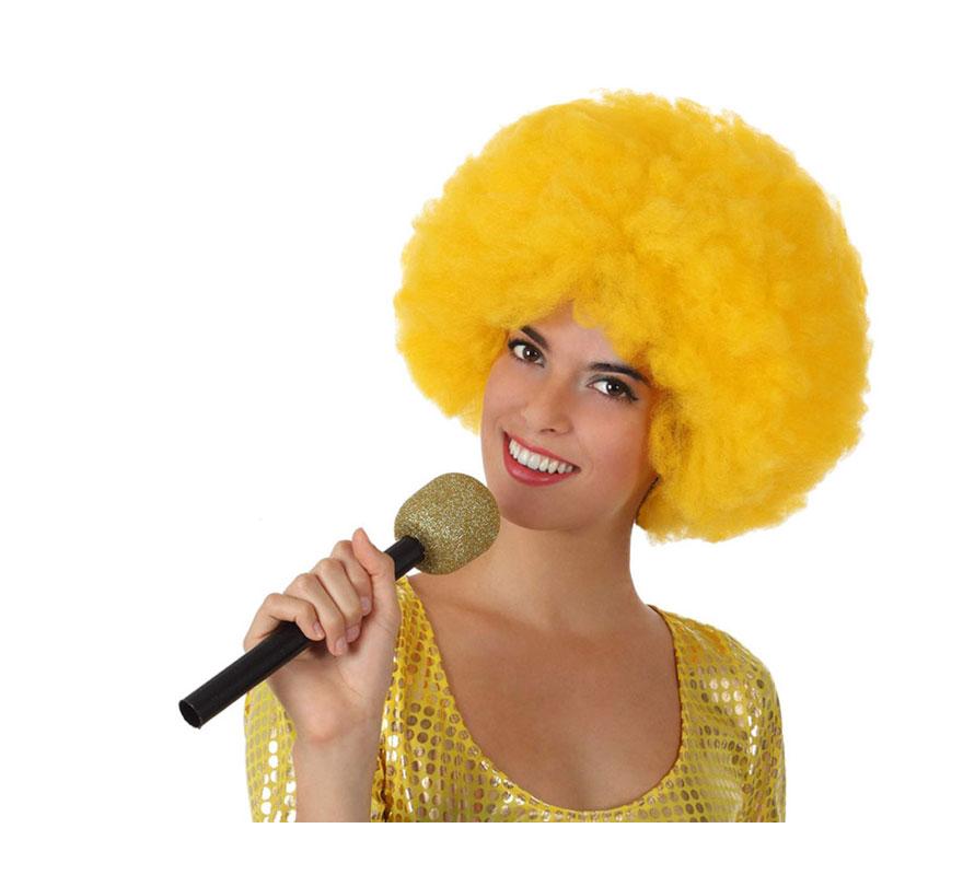 Micrófono Inalámbrico dorado de 27 cm.
