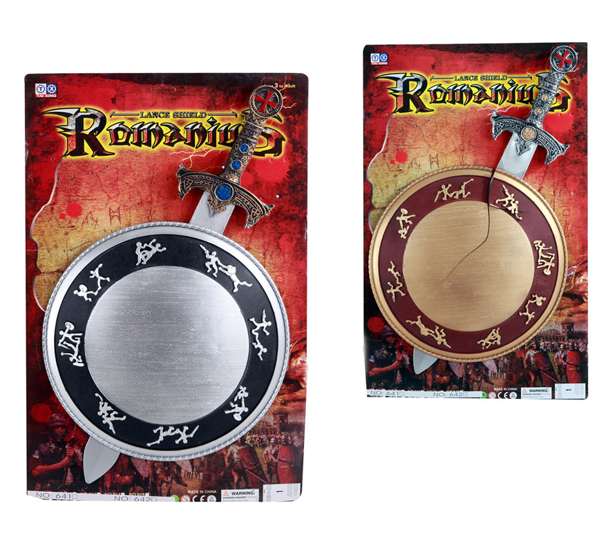 Set de Espada con Escudo Medieval infantil. Disponible en 2 colores, precio por unidad, se venden por separado.
