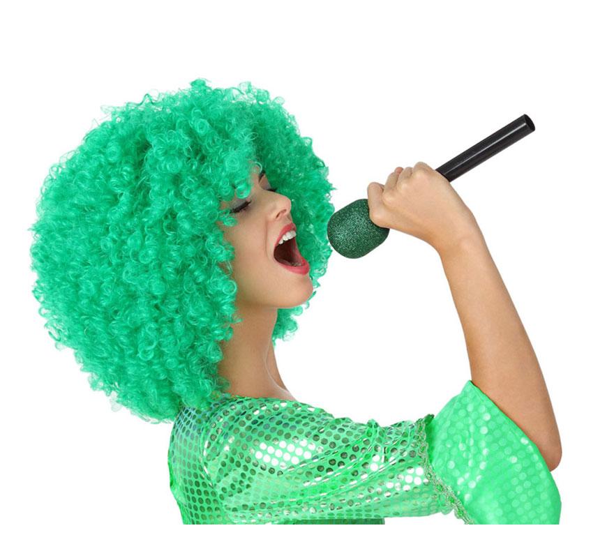 Micrófono Inalámbrico verde de 27 cm