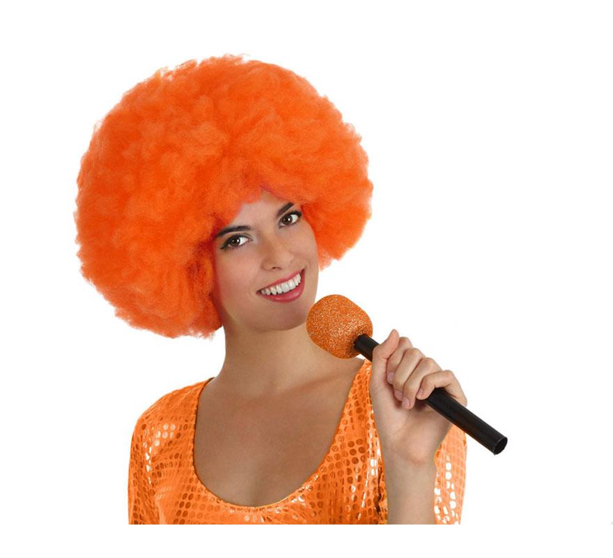 Micrófono Inalámbrico naranja de 27 cm.