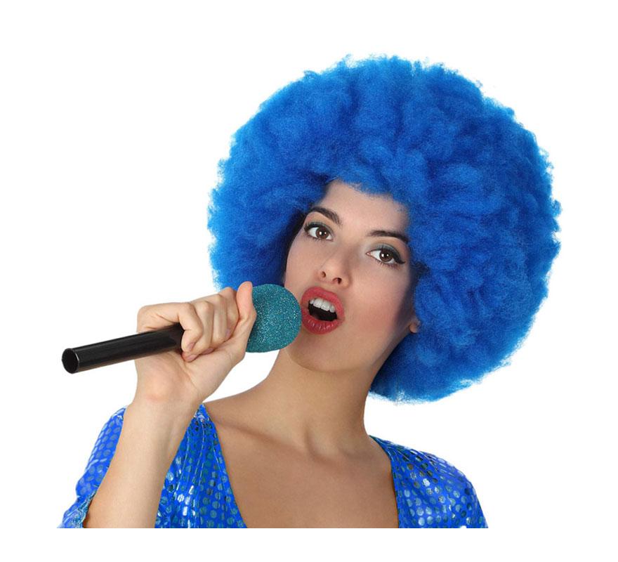 Micrófono Inalámbrico azul de 27 cm.