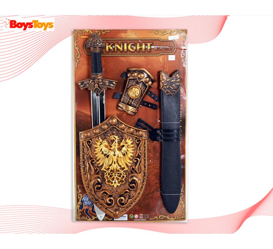 Set Armas de Caballero Medieval 4 piezas infantil.