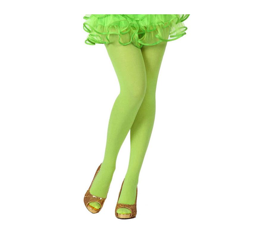 Pantys verde neon. Talla universal. Perfectas para el disfraz de Hada y de Bruja.