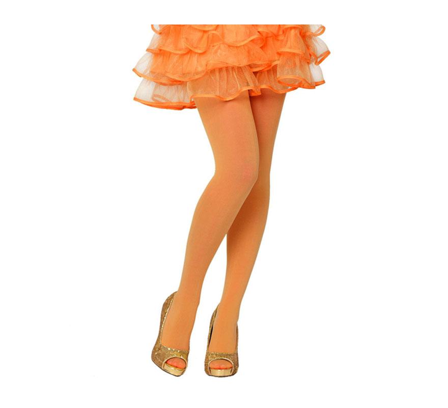 Pantys naranja neon talla única