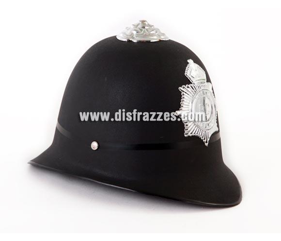 Casco típico de Policía Inglés de Londres 22 cm.
