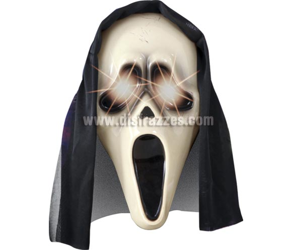 Máscara de Scream con luz para Halloween