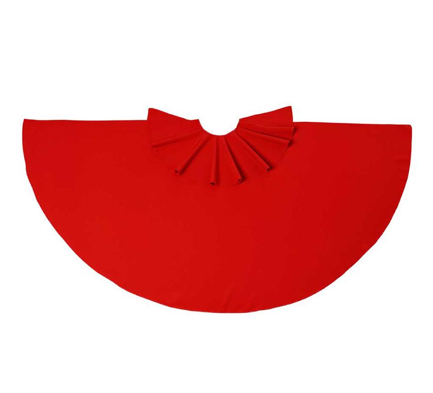 Capote de Torero rojo 40 cm. El complemento ideal para los disfraces de Torero o Torera.