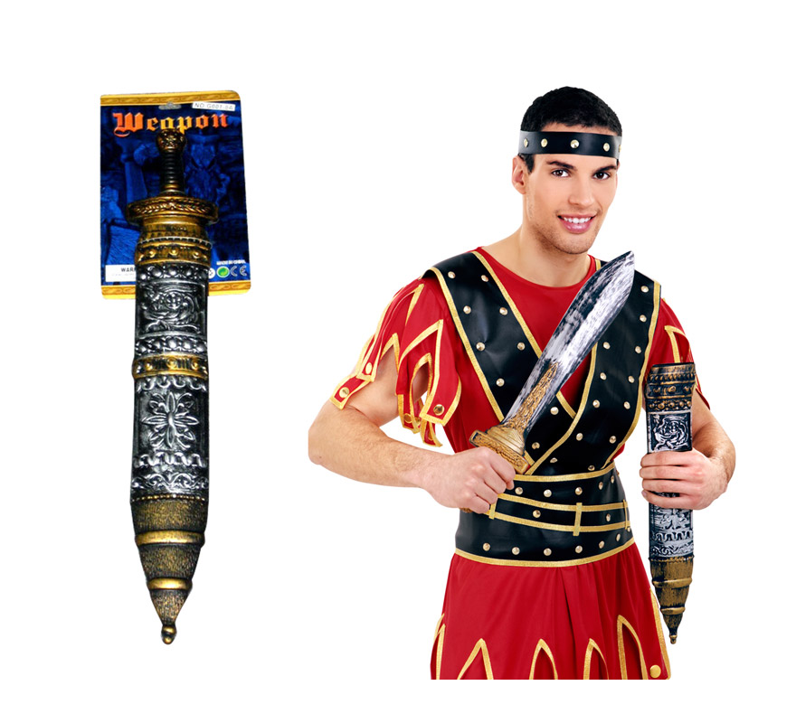 Espada Gladiador o Centurión Romano 56 cm. También vale para los disfraces de Astérix, incluso para los de Vikingo y Bárbaro.