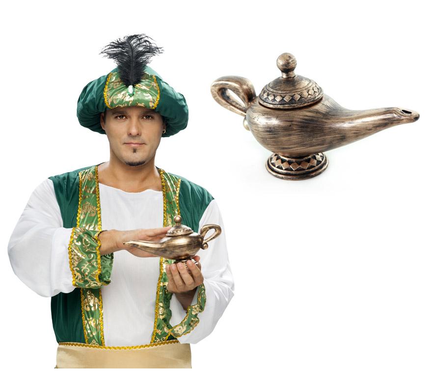 Lámpara Maravillosa del Genio 22x23 cm. Perfecta como complemento de tu disfraz de Árabe o de Mora.