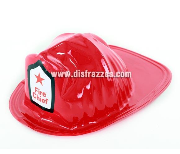 Casco de Bombero rojo de PVC 28x22 cm.
