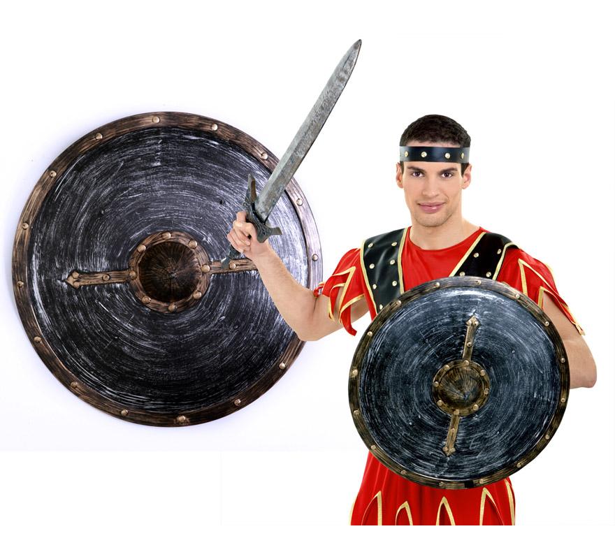 Escudo de Gladiador o de Centurión Romano negro-bronce 46 cm.