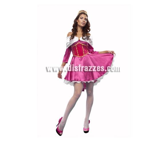 Disfraz de Princesa Rosa Durmiente mujer. Talla standar M-L = 38/42. Incluye vestido y tocado.