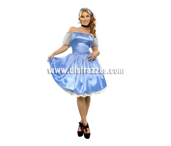 Disfraz vestido de Princesa Azul para mujer. Talla Standar M-L = 38/42. Incluye vestido y tocado. Éste disfraz es perfecto para imitar a La Bella Durmiente y es un vestido muy bonito, además de un disfraz muy original y barato.