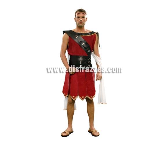 Disfraz de Guerrero para hombre. Talla standar M-L = 52/54. Incluye vestido, cinturón, bandolera y cinta de la cabeza. También se usa como disfraz de Centurión Romano para teatros o Cabalgatas en Navidad.
