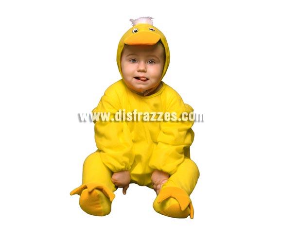 Disfraz barato de Pato o Patito para bebés de 6 a 12 meses. Incluye mono y gorro.