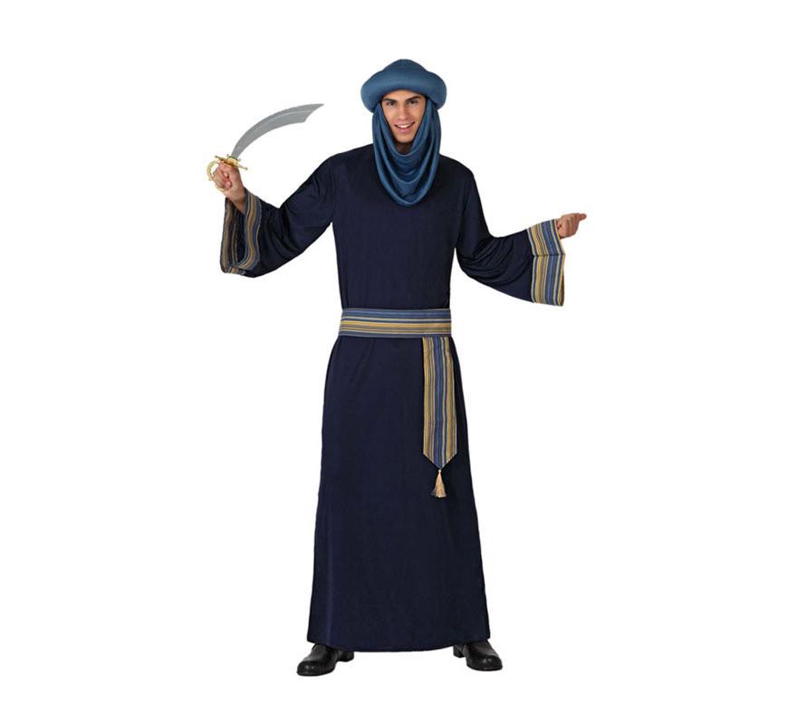 Disfraz barato de Berebere o de Árabe azul para hombre talla M-L