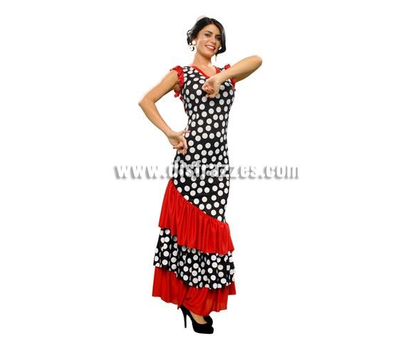 Disfraz de Seguidilla para mujer. Talla M-L = 38/42. Incluye vestido. Accesorios como pendientes y peineta NO incluidos, podrás ver algunos en la sección de Complementos. Éste disfraz de Andaluza, Sevillana, Cordobesa o Gitana es ideal para la Feria y para ir bien guapa.