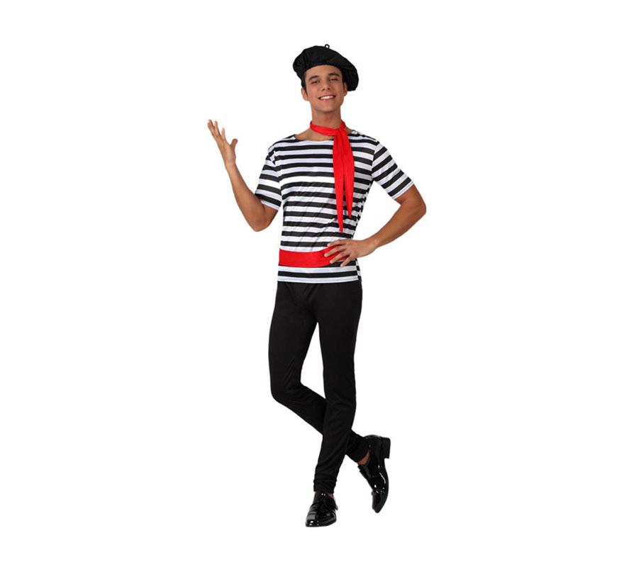 Disfraz de Francés para hombre. Talla 2 ó talla standar M-L = 52/54. Incluye disfraz completo.