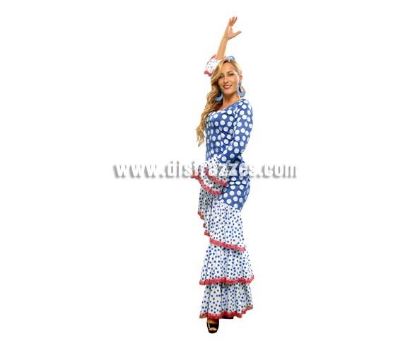 Disfraz de Zambra para mujer. Talla standar M-L = 38/42. Incluye vestido. Accesorios NO incluidos, podrás ver algunos modelos en la sección de Complementos. Disfraz de Sevillana, Flamenca o Gitana perfecto para la Feria. Oole!