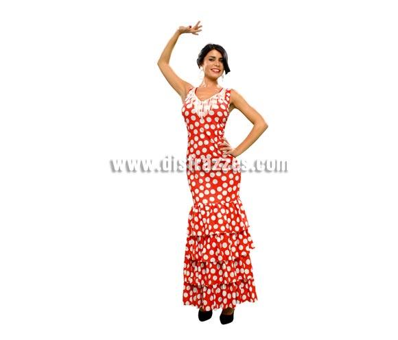 Disfraz de Fandango para mujer. Talla standar M-L = 38/42. Incluye vestido. Accesorios NO incluidos, podrás ver algunos modelos en la sección de Complementos. Disfraz de Sevillana, Flamenca o Gitana perfecto para la Feria. Oole!