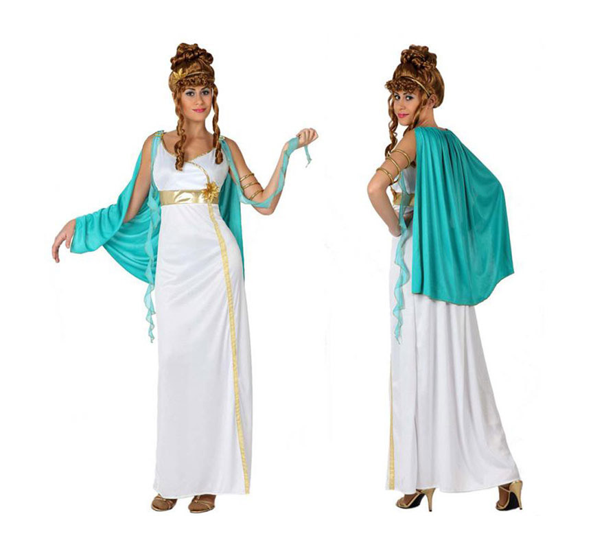 Disfraz de Romana para chicas. Talla 1 o talla S = 34/38 para chicas delgadas y adolescentes. Incluye túnica y manto. Peluca NO incluida, podrás verla en la sección de Complementos.