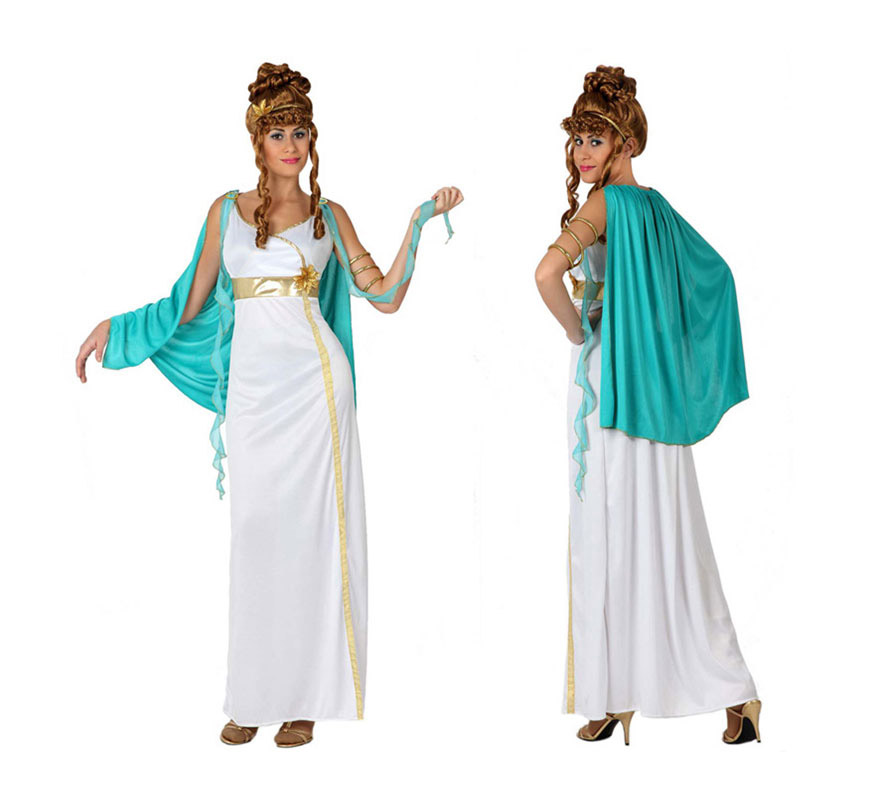 Disfraz de Romana para mujer. Talla 2 o talla M-L = 38/42. Incluye túnica y manto. Peluca NO incluida, podrás verla en la sección de Complementos.