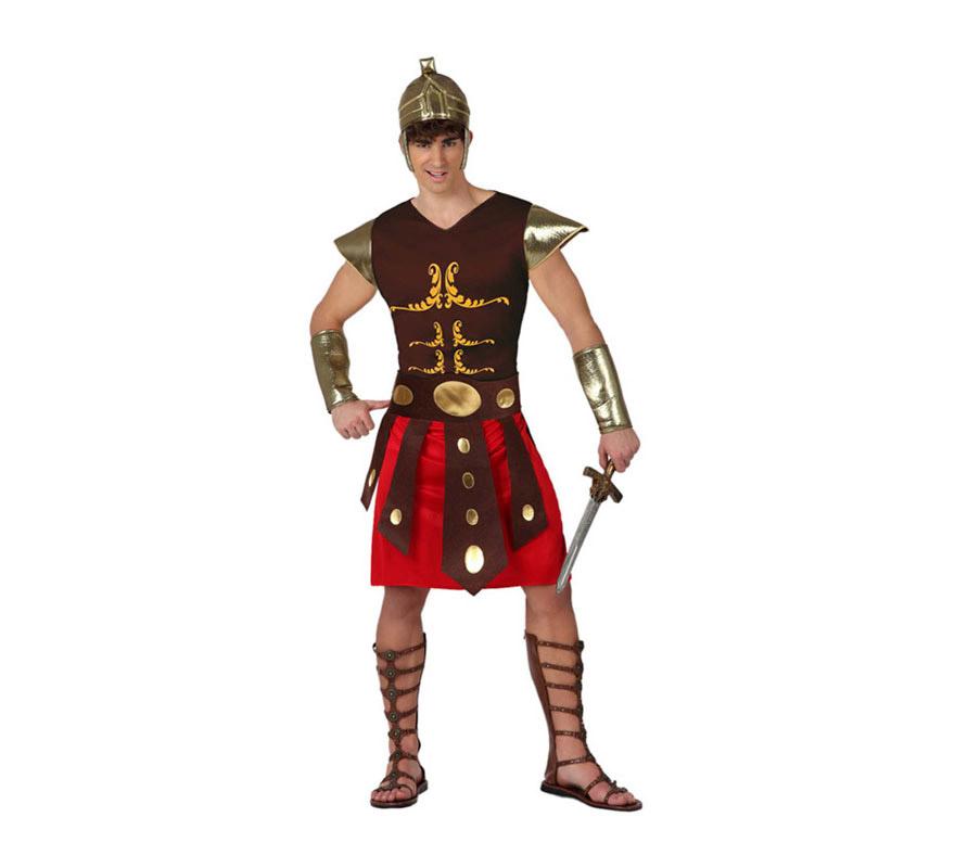 Disfraz de Gladiador Romano para hombre. Talla XL = 54/58. Incluye disfraz completo SIN espada y SIN sandalias, podrás encontrarlo en nuestra sección de Complementos.