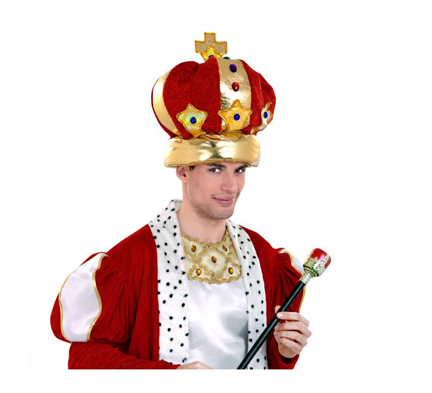Sombrero o Corona de Rey o Reina. Perfecto para disfraces Medievales y para Reyes Magos.