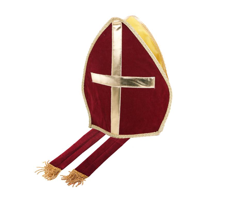 Sombrero o Mitra de Obispo o Papa, 36x25,5 cm.