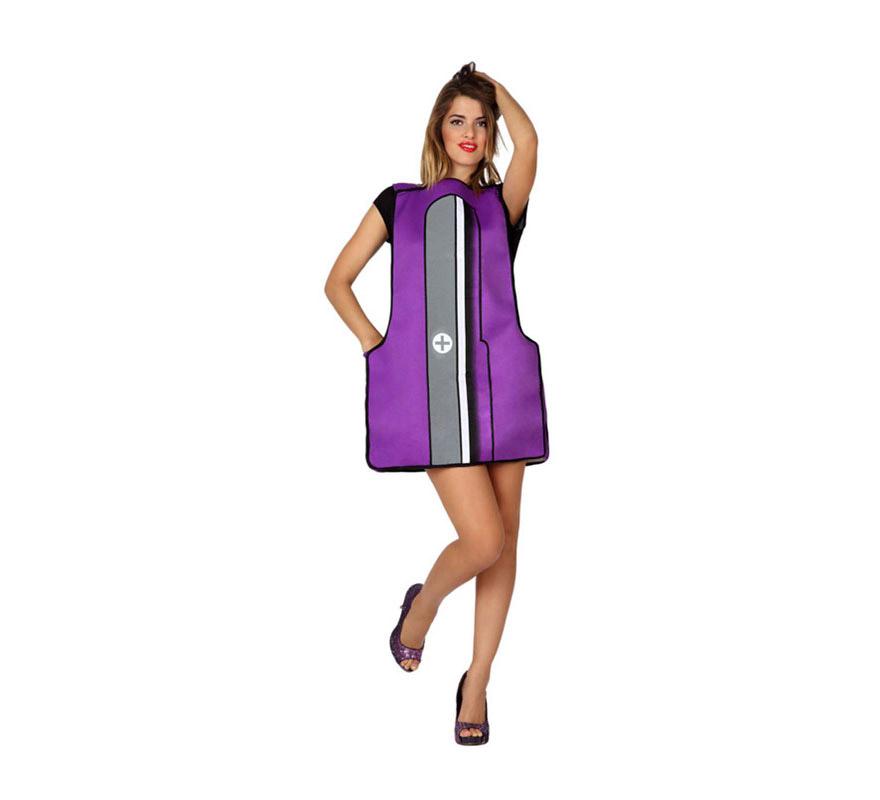 Disfraz de Sacapuntas para adultos. Incluye disfraz de sacapuntas. Ideal para Grupos y para combinar con el disfraz de Lápiz ref: 15614AT. Al ser un disfraz de talla universal, puede valer para mujer y para hombre.