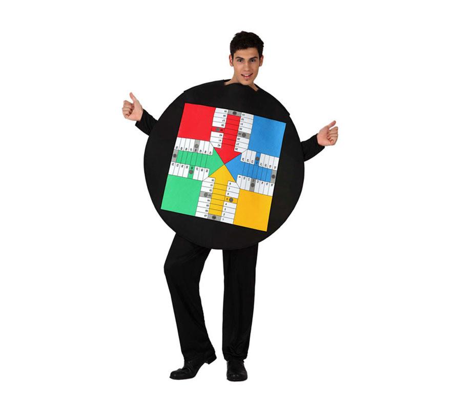 Disfraz barato de Tablero del Parchís para adultos
