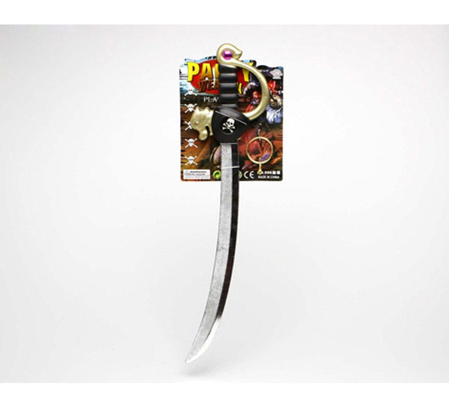 Espada, parche y pendiente de Pirata.