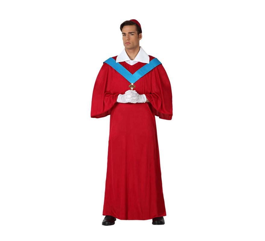 Disfraz de Cardenal para hombre. Talla 2 o talla M-L = 52/54. Incluye disfraz completo SIN guantes, podrás verlos en la sección de Complementos.