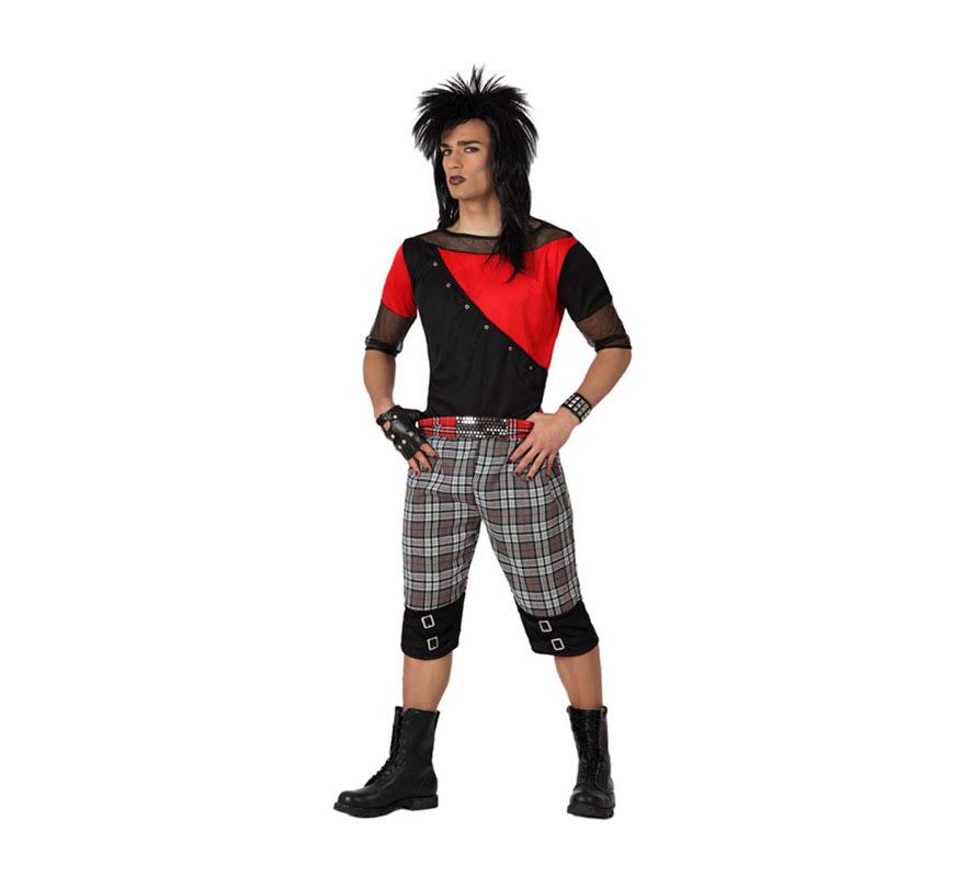 Disfraz barato de Punky para hombre talla M-L