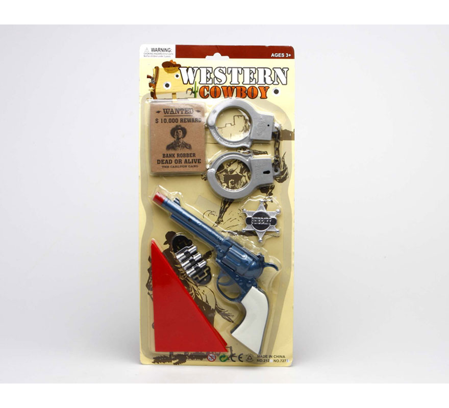 Set de Sheriff del Oeste o de Vaquero con accesorios.