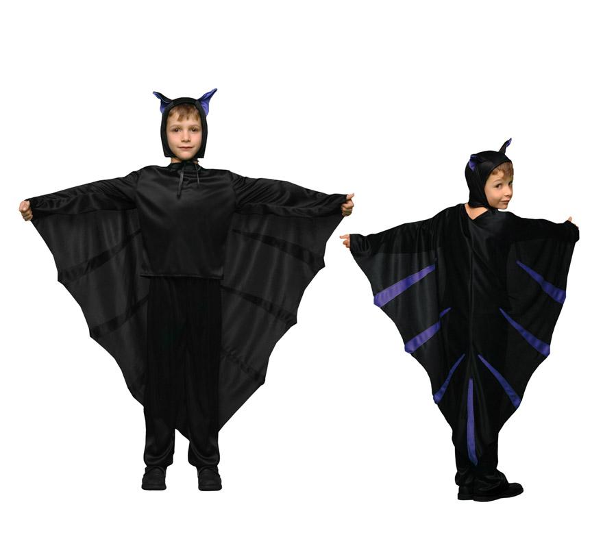 Disfraz de Murciélago para niños de 10 a 12 años para Halloween. Incluye disfraz completo.