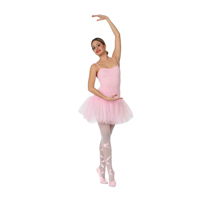 Disfraz de Bailarina de Balet para mujer. Talla 1 ó talla S = 34/38 para chicas delgadas y adolescentes. Incluye vestido con tutú. Las medias las podrás ver en la sección de Complementos.
