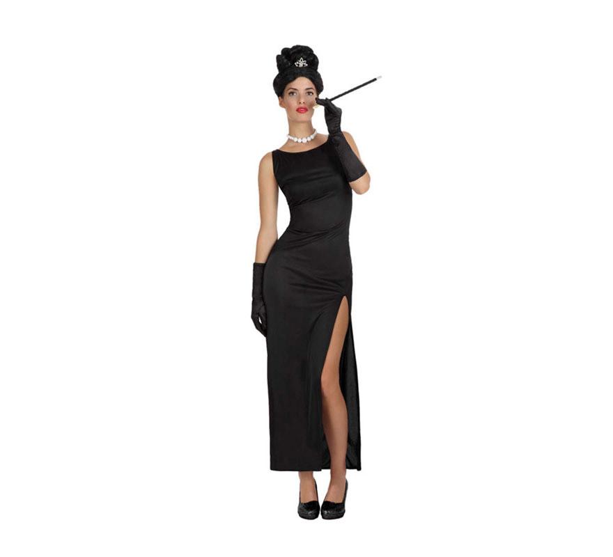 Disfraz de Estrella de Cine para mujer. Talla 1 o talla S = 34/38 para chicas delgadas y adolescentes. Incluye vestido. Resto de accesorios NO incluidos, podrás verlos en la sección de Complementos.