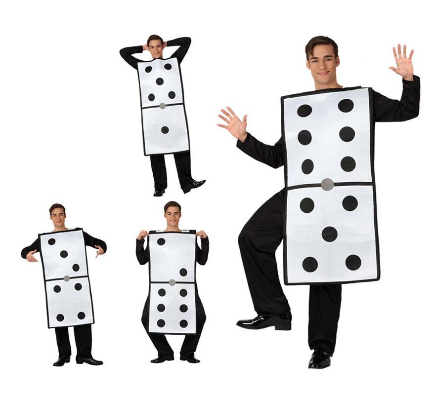 Disfraz de Ficha de Dominó para adultos. Incluye el disfraz de Dominó. Ideal para Grupos y pasar un buen rato jugando. Mide aproximadamente 109 cm. de largo.